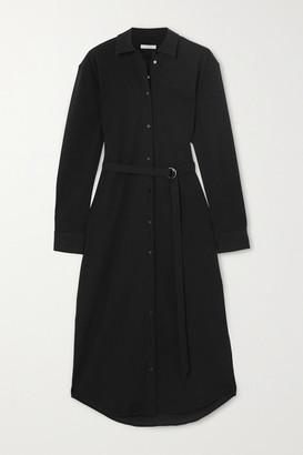 LA COLLECTION Irene Stretch Cotton-blend Midi Dress - Black