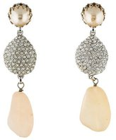 Isaac Mizrahi Embellished Drop Earrings