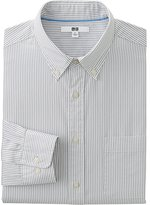 Uniqlo Men's Extra Fine Cotton Broadcloth Printed Dress Shirt
