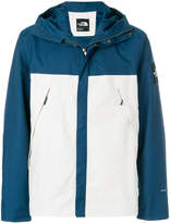 The North Face colour block hooded rain jacket