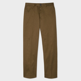 Paul Smith Men's Standard-Fit Khaki Cotton-Twill Stretch Chinos
