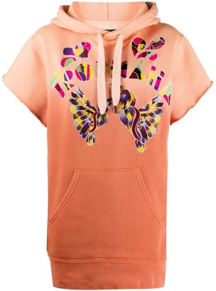 Isabel Marant Embroidered Short-Sleeved Hoodie