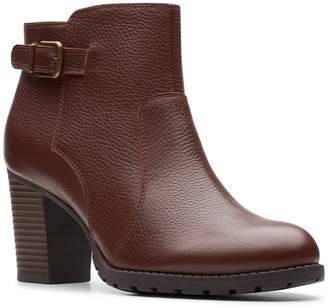 Clarks Verona Gleam Leather Bootie