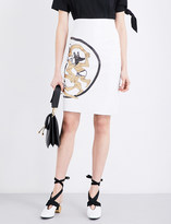 J.W.Anderson Dancing Wolves leather pencil skirt