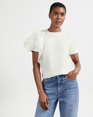 Ted Baker Ruffle Detail Knitted Top