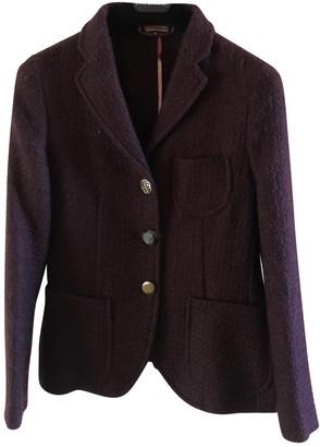 Maliparmi Purple Wool Jacket for Women