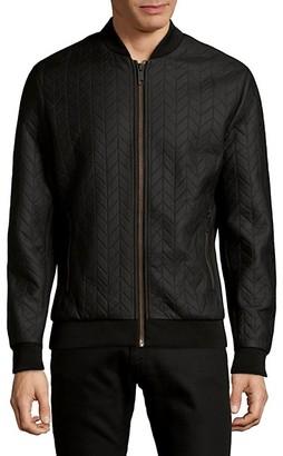 Antony Morato Quilted Herringbone Bomber Jacket