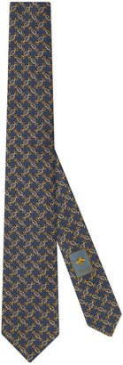 Gucci Interlocking G Horsebit silk tie