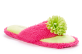 Foot Petals Paradise Pink & Lime Flower Terry Thong