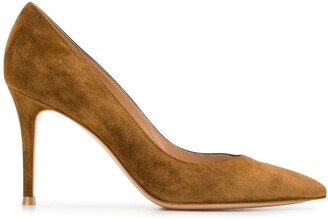Gianvito Rossi suede pointed pumps