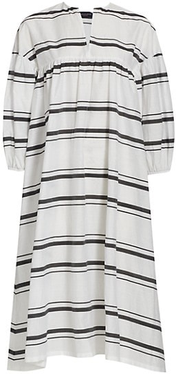 Thumbnail for your product : Piazza Sempione Striped Poplin Tunic Dress