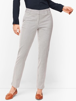 Talbots Hampshire Ankle Pants - Curvy Fit - Teatime Stripe