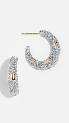Alison Lou 14k Petite Etoile Hoop Earrings