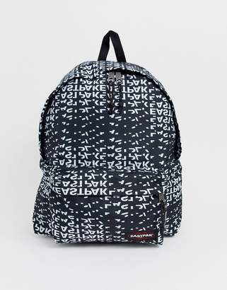 Eastpak Padded Pak'R XL backpack in all over logo print 29l-Black