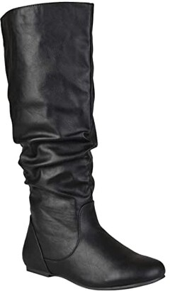 Journee Collection Jayne Boot - Extra Wide Calf (Black) Women's Shoes