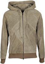 Dacute Leather Hooded Jacket
