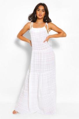 boohoo Cheesecloth Tiered Maxi Dress