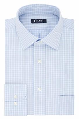 Chaps Men's Dress Shirt Regular Fit Stretch Check