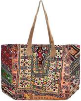 Vintage Addiction Vintage Fabric And Suede Oversized Tote Bag
