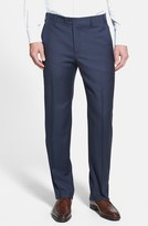 Zanella 'Devon' Flat Front Wool Trousers
