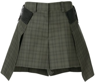 Sacai Layered Tartan Shorts