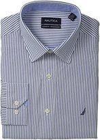 Nautica Men's Poplin Stripe Dress Shirt