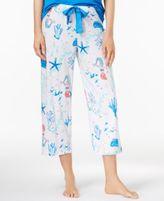 Hue Seascape Printed Cotton Capri Pajama Pants