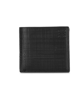Loewe Bi-Fold Crosshatch Leather Wallet