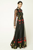 Forever 21 FOREVER 21+ Floral Embroidered Maxi Dress