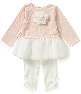 Starting Out Baby Girls 3-24 Months Rosette Detailed Tutu Dress & Leggings Set