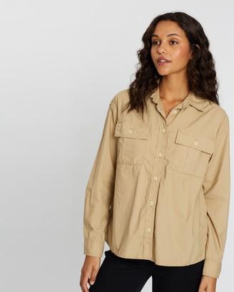 Gap Long Sleeve Camp Shirt