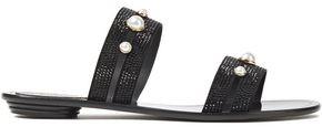 Rene Caovilla Rene' Caovilla Embellished Suede Sandals