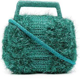 M Missoni Fringed Metallic Tote Bag