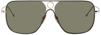Thom Browne Green and Gold TBS114 Sunglasses