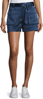 Theory Vasilica Vintage Satin Shorts