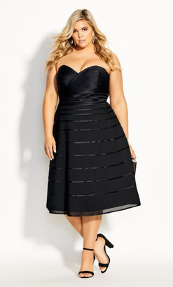 City Chic Couture Dress - black