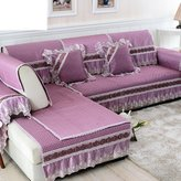 NJHK Pstorl fbric slip sof cushions/ solid color cushion/ Europen-style sof towel