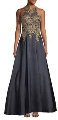 Xscape Evenings Halter Floor-Length Dress