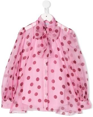 Dolce & Gabbana Polka Dot Print Blouse