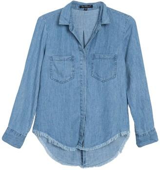Velvet Heart Riley Roll Sleeve High/Low Chambray Shirt