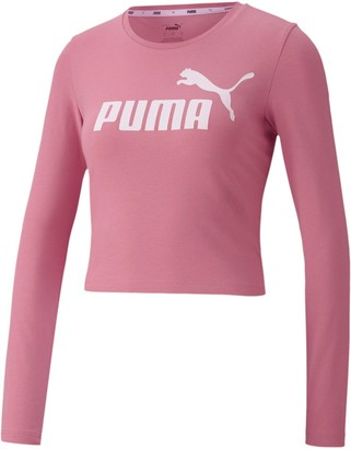 Puma Women's Essential Logo Long-Sleeve T-Shirt