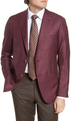 Hickey Freeman Classic Fit Solid Wool Blend Sport Coat
