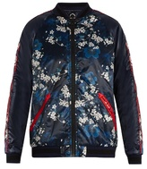 The Upside Cherry Blossom-print bomber jacket