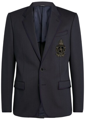 Dolce & Gabbana Insignia Embellishment Blazer