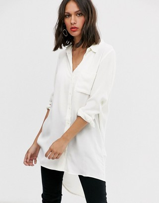 Only long sleeve white shirt