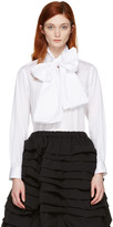 Comme des Garcons White Lavalliere Bow Shirt