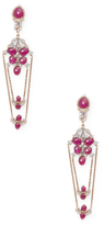 Artisan Designer Slice Ruby Earring with Diamonds