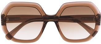 Longchamp Octagonal Oversize Sunglasses