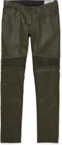 Belstaff - Eastham Slim-fit Coated Stretch-denim Biker Jeans