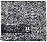 Nixon Showtime Bi-Fold Zip Wallet - Men's Black Wash One Size